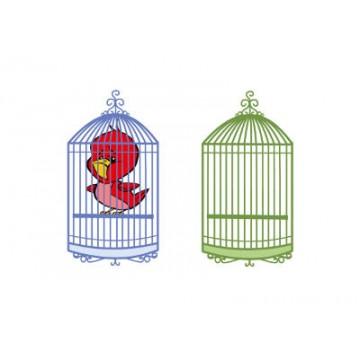 Il canarino in gabbia