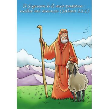 Cartolina con magnete - Il buon pastore